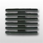 "Ribbon Mount: 18 Ribbons - Metal - 1/8"" Space - Black Finish - Rows of 3 - for Army"