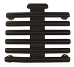 "Ribbon Mount: 19 Ribbons - Metal - 1/8"" Space - Black Finish - Rows of 3 - for Army"