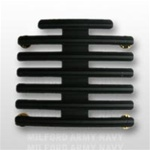 "Ribbon Mount: 20 Ribbons - Metal - 1/8"" Space - Black Finish - Rows of 3 - for Army"