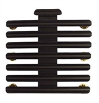 "Ribbon Mount: 22 Ribbons - Metal - 1/8"" Space - Black Finish - Rows of 3 - for Army"