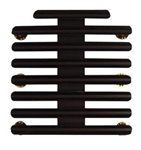 "Ribbon Mount: 23 Ribbons - Metal - 1/8"" Space - Black Finish - Rows of 3 - for Army"