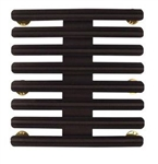 "Ribbon Mount: 24 Ribbons - Metal - 1/8"" Space - Black Finish - Rows of 3 - for Army"