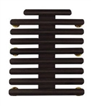 "Ribbon Mount: 26 Ribbons - Metal - 1/8"" Space - Black Finish - Rows of 3 - for Army"