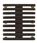 "Ribbon Mount: 27 Ribbons - Metal - 1/8"" Space - Black Finish - Rows of 3 - for Army"