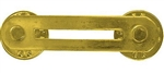 (1) Single Base Bar - For use with 1 Ribbon (or 2 Mini Medals) - Brass with Clutchback