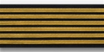 US Army Service Stripes For Female Blue Uniform: 6 Stripes