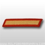 USMC Male Service Stripes - Gold Embroidered on Red: Set Of 1