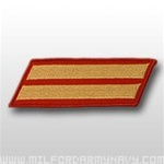 USMC Male Service Stripes - Gold Embroidered on Red: Set Of 2