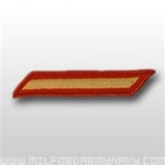 USMC Female Service Stripes - New Issue - Gold Embroidered on Red: Set Of 1