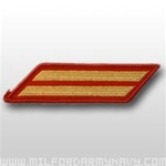 USMC Female Service Stripes - New Issue - Gold Embroidered on Red: Set Of 2