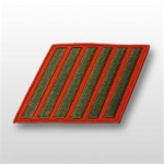 USMC Male Service Stripes - Green Embroidered on Red: Set Of 6