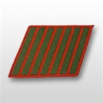 USMC Male Service Stripes - Green Embroidered on Red: Set Of 7