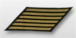 US Navy CPO Hashmarks Gold Embroidered: Set of  6 - Male - 7""