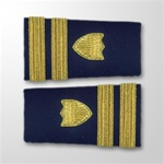 USCG Female Enhanced Shoulder Marks:  O-3 Lieutenant (LT)