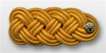 US Army Shoulder Knot for Officer: Female - Gold Color Rayon Lace