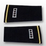 US Army Large Epaulets:   W-4 Chief Warrant Officer Four (CW4) - Male - For Commando Sweater Or Shirt - Rayon Embroidered