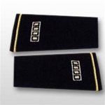 US Army Large Epaulets:   W-5 Chief Warrant Officer Five (CW5) - Male - For Commando Sweater Or Shirt - Rayon Embroidered