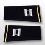 US Army Large Epaulets:  O-3 Captain (CPT) - Male - For Commando Sweater Or Shirt - Rayon Embroidered