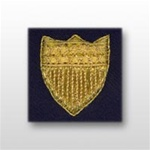 USCG Sleeve Device - Officer - Gold Synthetic Shield: Blue Serge
