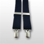 USAF Suspenders: Blue - with Clip