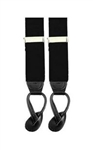 Black Suspenders with Leather Ends and Button Holes