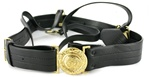 USCG Vinyl Sword Belt with Gold Buckle