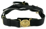 USCG Leather Sword Belt with Gold Buckle