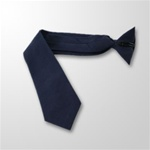 "USCG Neckties: Pre-Tied Clip on Blue 55% Dacron/45% Rayonl - 3 1/8"" - 18"" Long"