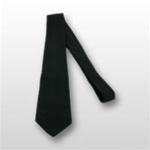 "US Army Tie: Four In Hand Dacron/Wool 3-1/8"" - Black"