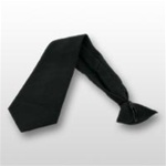 US Army Tie: Pre-Tied Blac Dacron/Wool 3-1/8""