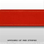"USMC Trouser Stripes: 1 1/2"" Red Officer Trouser Stripes"