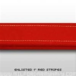 "USMC Trouser Stripes: 1 1/8"" Red Enlisted Trouser Stripes"