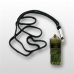 US Navy Whistle: O/D Camo Plastic with Lanyard - Small