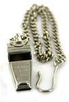Nickel Plated Whistle & Chain