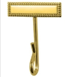 Whistle Holder: 24k Gold Plated Bar with Hook