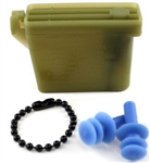 US Army Accessory: Ear Plugs - Large - includes Case with Chain