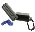 US Army Accessory: Ear Plugs - Large - includes ACU Case with Chain