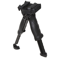 Vertical Grip Bipod Rotating Foregrip Adjustable Legs w/ side Rail