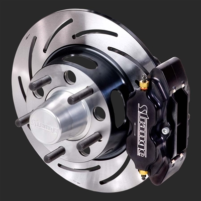 Strange Pro Series Front Brake Kit GM Applications using 4 3/4″ Bolt Circle Wheels 4 Piston Calipers & One Piece Slotted Rotors