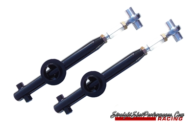 Straight Shot Performance Solid Bushing Double Adjustable Lower Control Arms (79-04 Mustang)