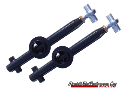 Straight Shot Performance Solid Bushing single Adjustable Lower Control Arms W/ Spring Perch (79-04 Mustang)