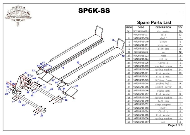 Single Post Parts : Sp k ss parts breakdown replacement for