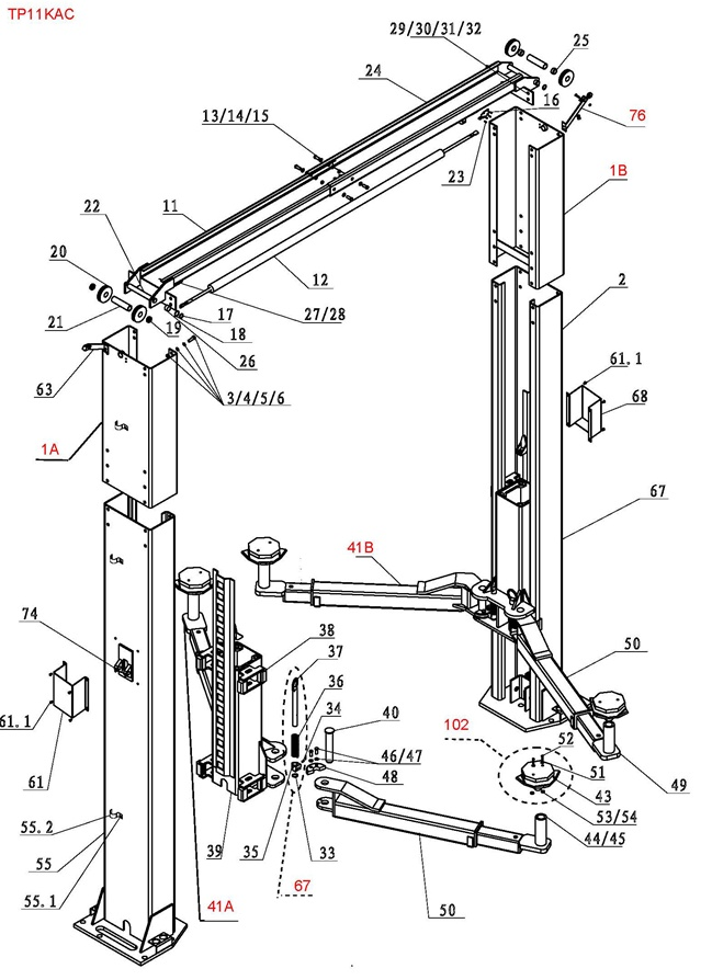 Bendpak 2 Post Lift Wiring Diagram For BendPak Lift