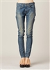 The News 6397 Denim Skinny Leg Jeans Dirty Light Blue Wash Size 29-Premium Denim