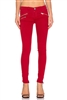 Black Orchid Denim Billie Zipper Skinny Come To Bed Red Wash Size 26