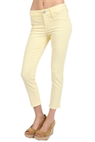 Black Orchid Black Jewel Mid Rise Capri in Daffodil Yellow Size 27