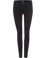 Hudson nico high waist skinny jeans black night