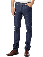 J. Lindeberg Damien Slim Fit Stretch Jeans Blue Resin Coated Wash Size 38-Premium Denim