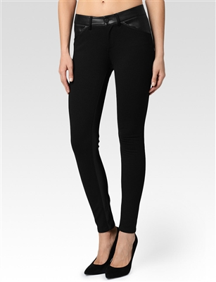 Paige Luna ultra skinny black leather pants jeans, Paige Denim Luna Ultra Skinny Stretch Leather Jean Black