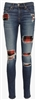 Rag & Bone Denim Women's The Skinny Jean in Sloane Plaid Repair Wash - Premium Denim